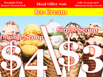 Meal Offer #06 Wendee holding a double scoop ice cream cone for $4