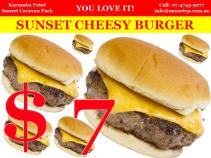 Sunset Cheesy Burger Karumba Point Sunset Caravan Park