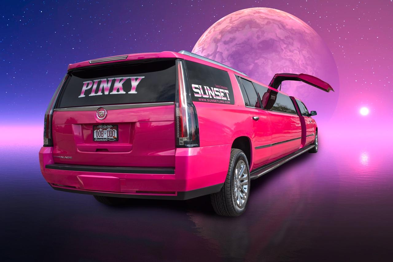 Denver Limo Service Sunset Limo  Sunsets Pink Limo
