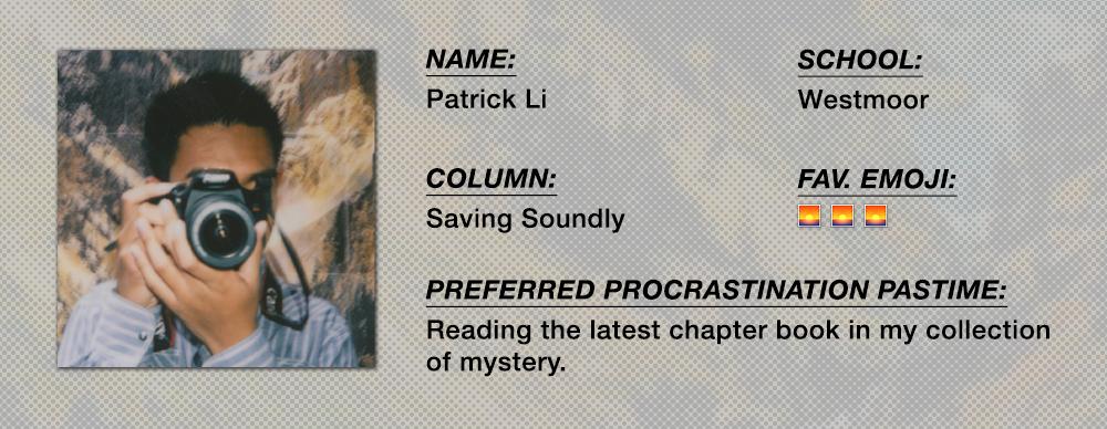 Patrick Li - Saving Soundly