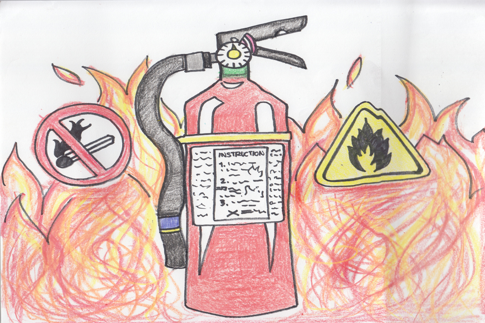 Follow the Yellow Brick Road: Fire Extinguisher