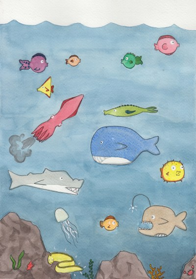 Imaginary Paint: Fish Don't Blink