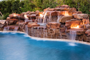 Rock Waterfall Luxury Pool Installations Houston Katy Sugar Land Cypress Fulshear TX