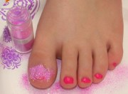 diy glitter toes - quick and easy