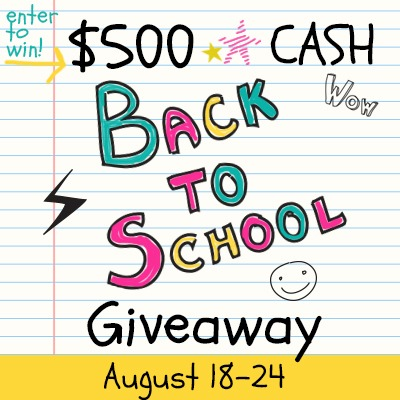 Back to School Giveaway - $500 PayPal Cash