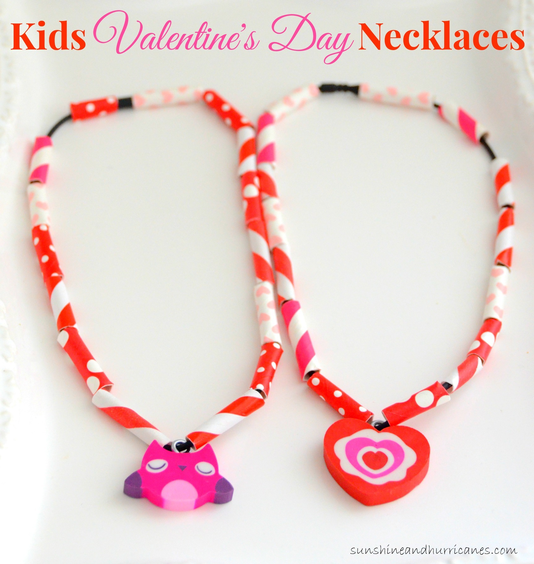 Easy Kids Valentines Day Necklaces