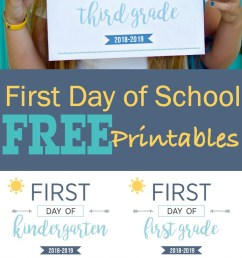 First Day of School Printables - Capture Their Cuteness Forever [ 2000 x 801 Pixel ]