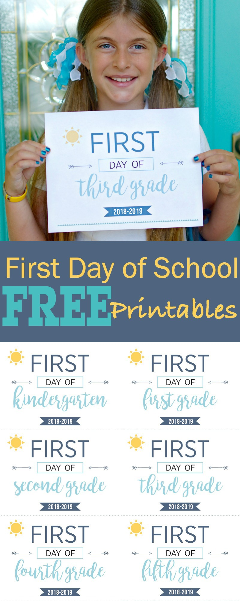 medium resolution of First Day of School Printables - Capture Their Cuteness Forever