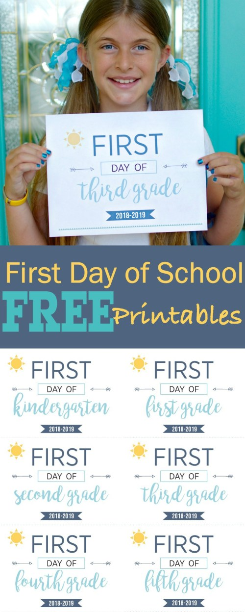 small resolution of First Day of School Printables - Capture Their Cuteness Forever