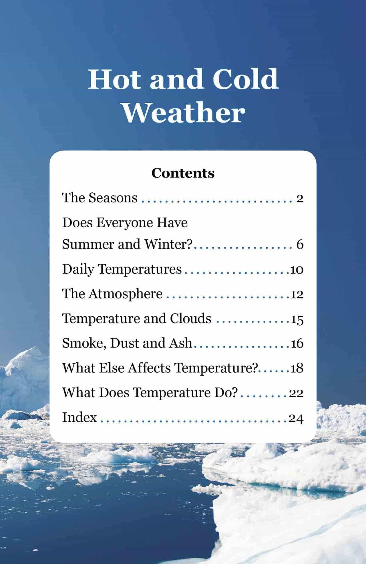 Hot And Cold Weather Ins Sunshine Books Australia