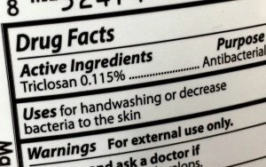 product with triclosan