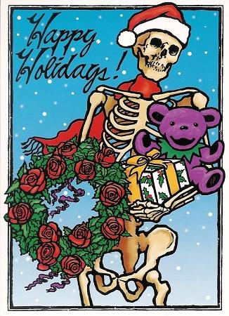 Grateful Dead Skeleton Holiday Christmas Card