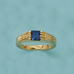 Blue Stone Boys Ring at www.SunshineJewelry.com