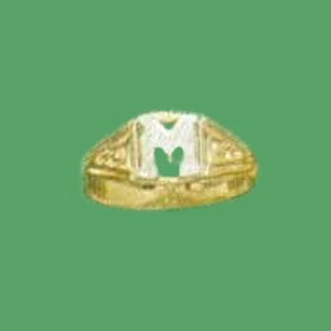 Sterling Silver Initial Hip Hop Ring at www.SunshineJewelry.com