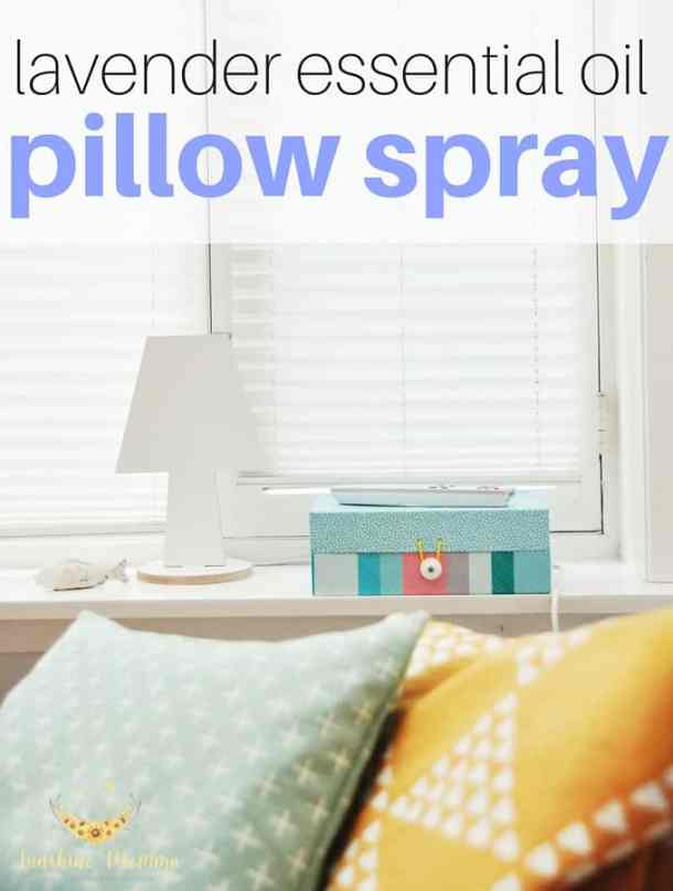 DIY Lavender essential oil pillow spray