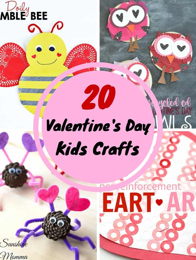 20 Valentine's Day Kids Crafts