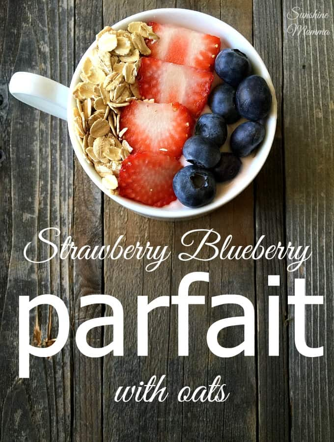 Strawberry Blueberry Parfait With Oats