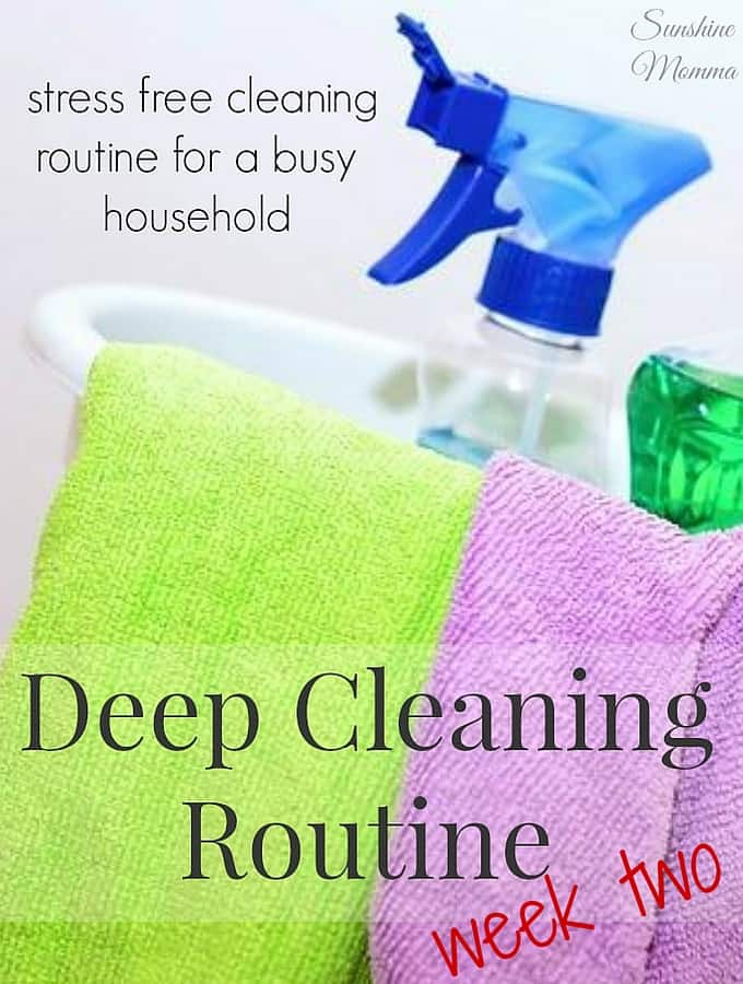 Stress Free Deep Cleaning Routine Week 2
