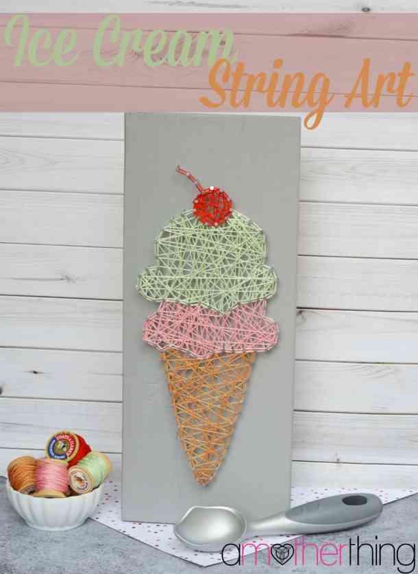 Ice Cream String Art