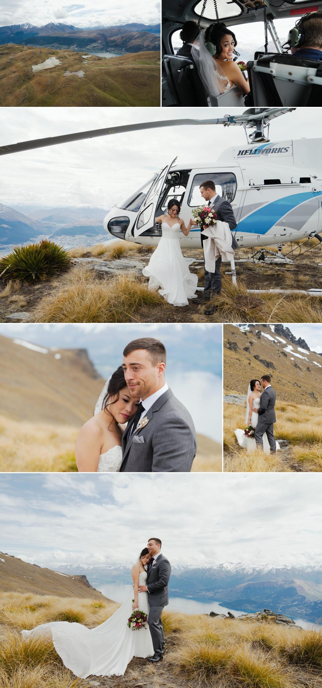 Queenstown heli wedding photographer