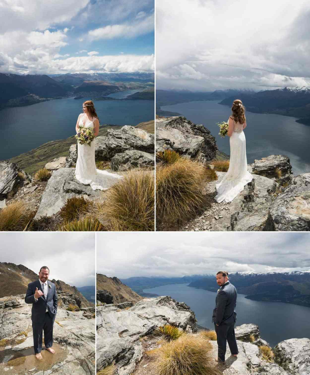 heli wedding cecil peak