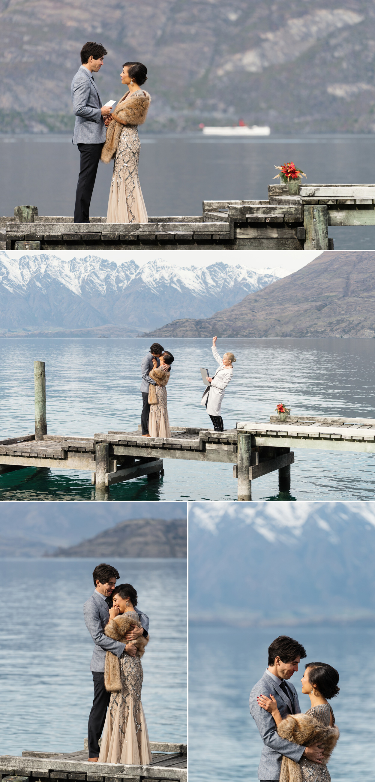 lake wedding ceremony queenstown