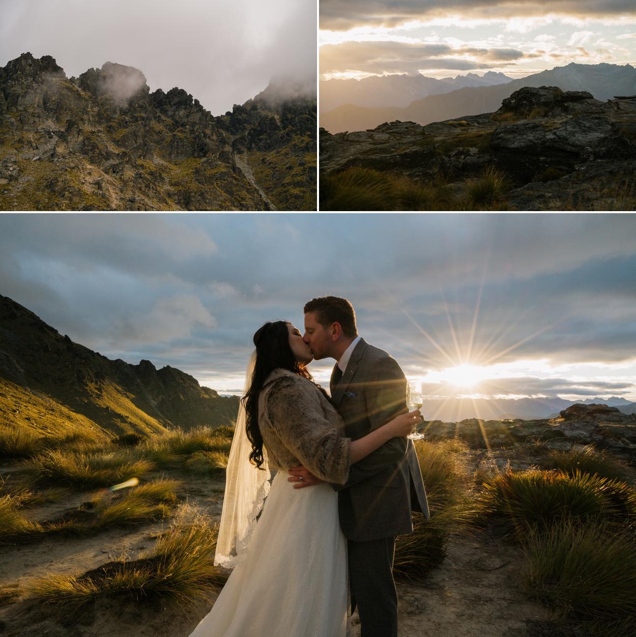 sunset heli wedding by Sunshine Weddings