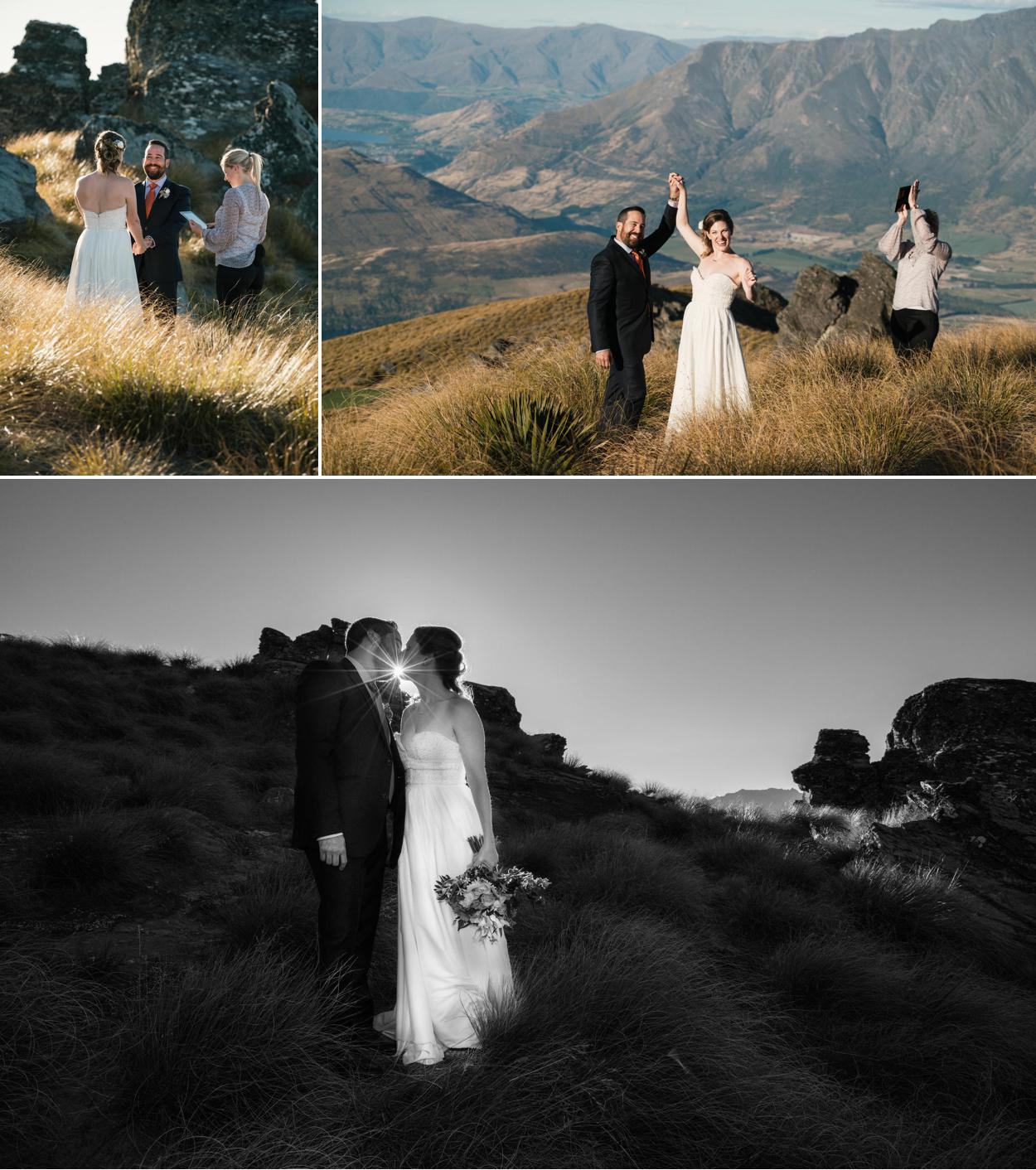 sunset mountain wedding planner QUeenstown