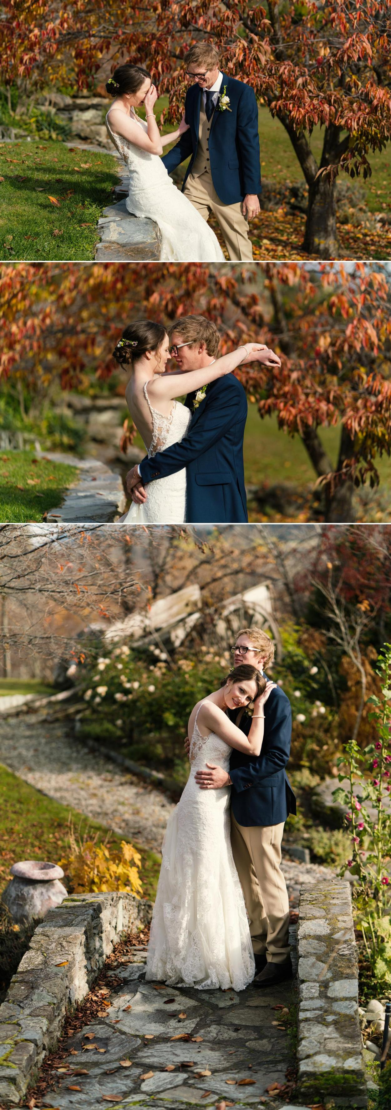 New Zealand autumn wedding