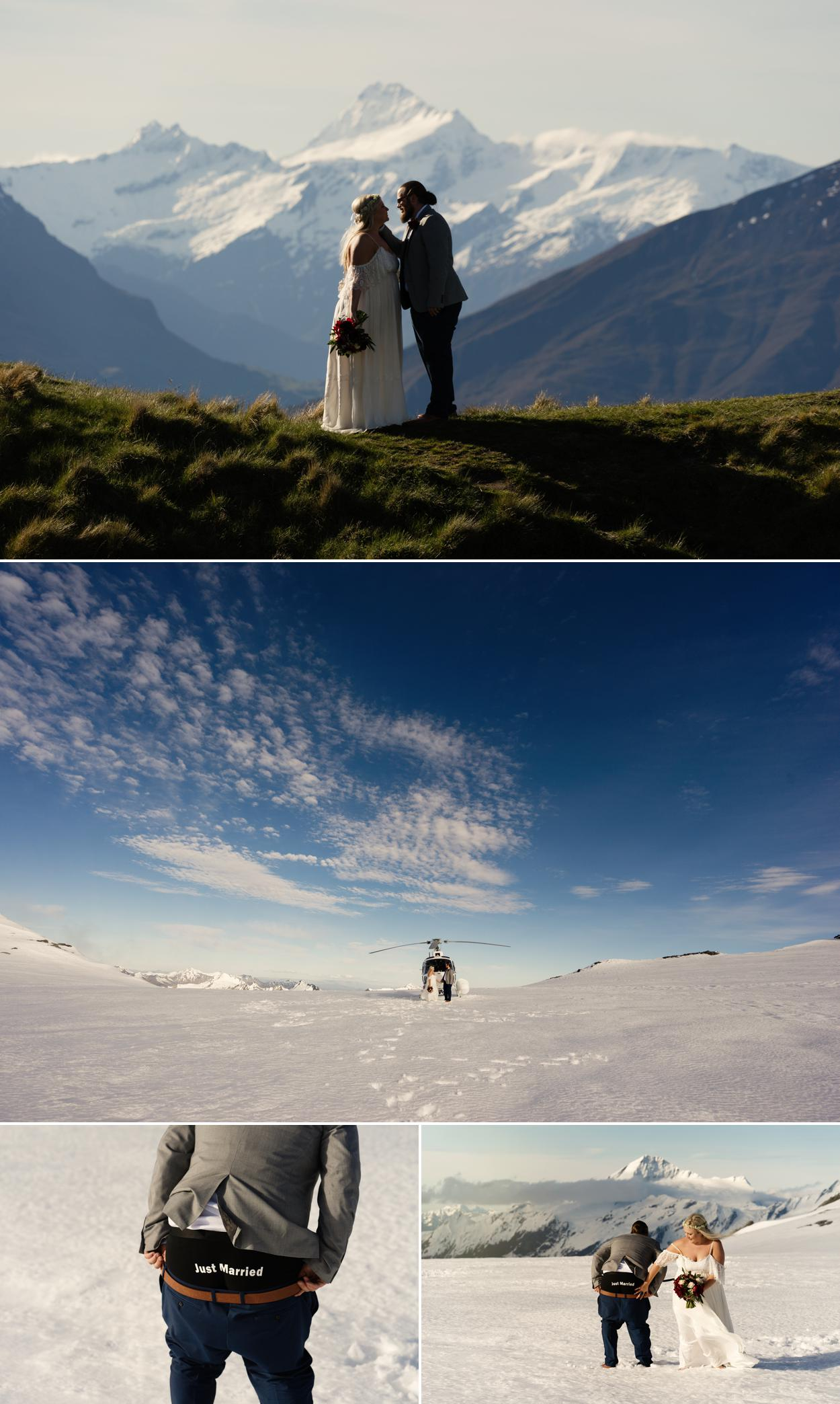 New Zealand glacier wedding
