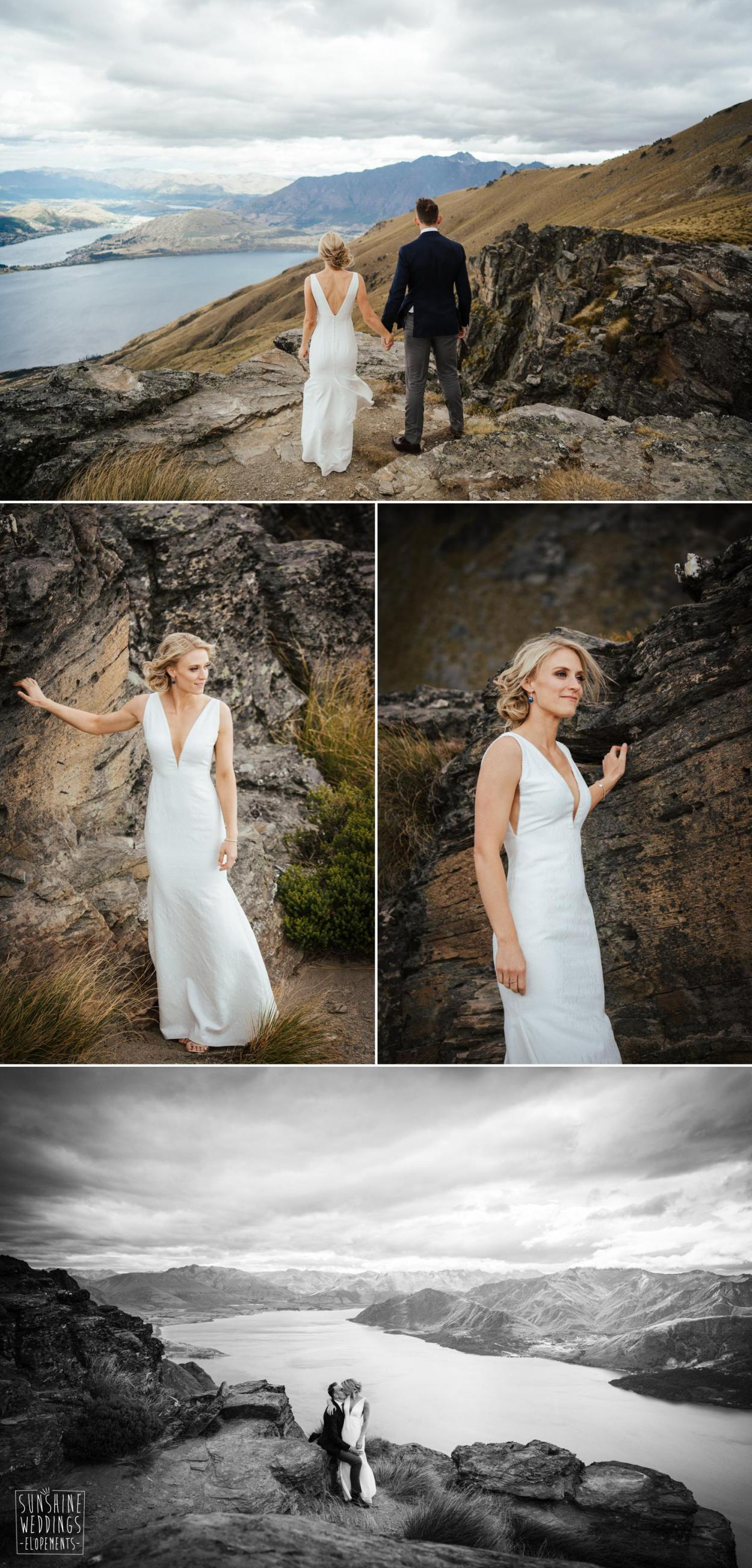 Cecil Peak photo shoot wedding