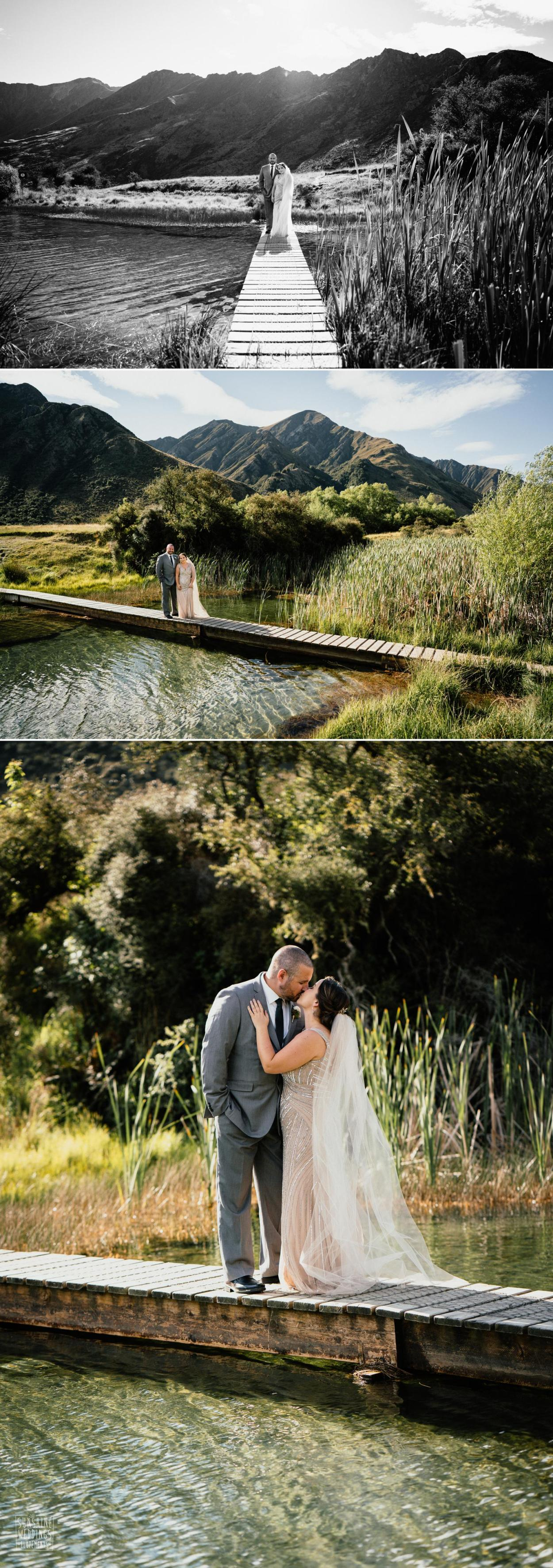 Lake wedding Queenstown New Zealand