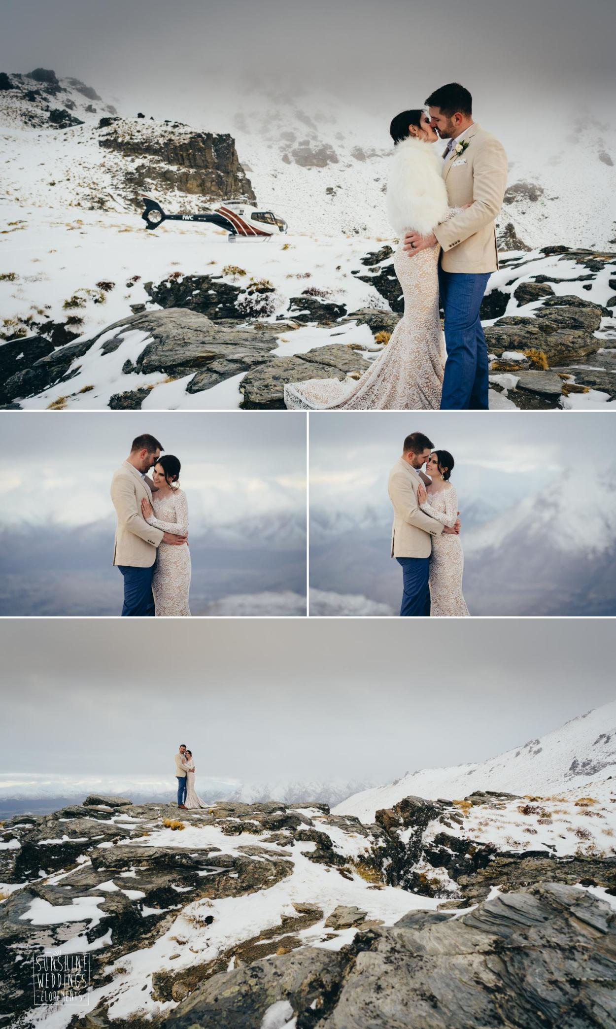 Queenstown winter elopement