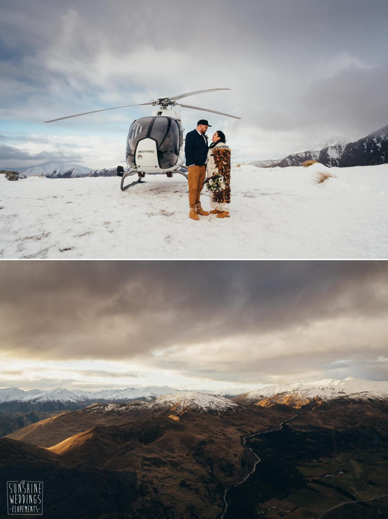 Heliworks winter wedding