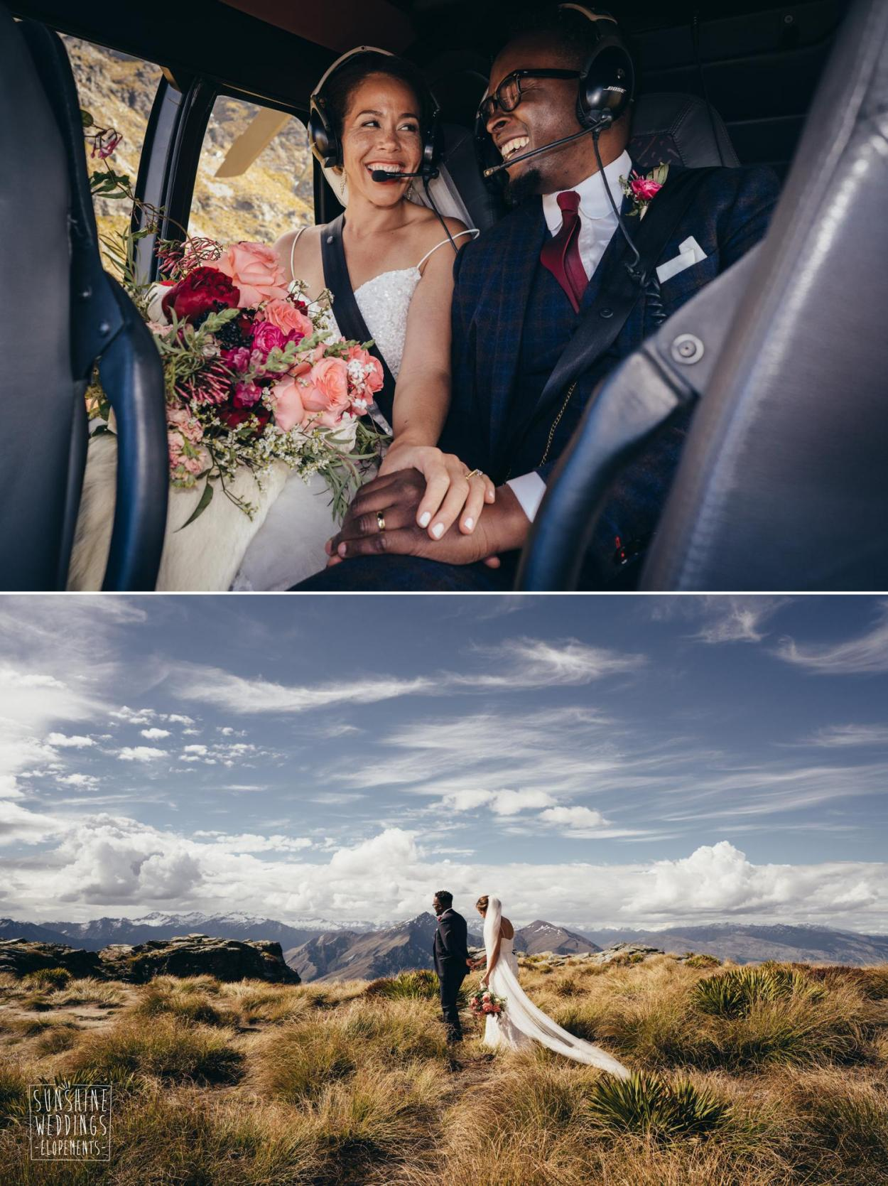 Heli wedding Queenstown wedding planner