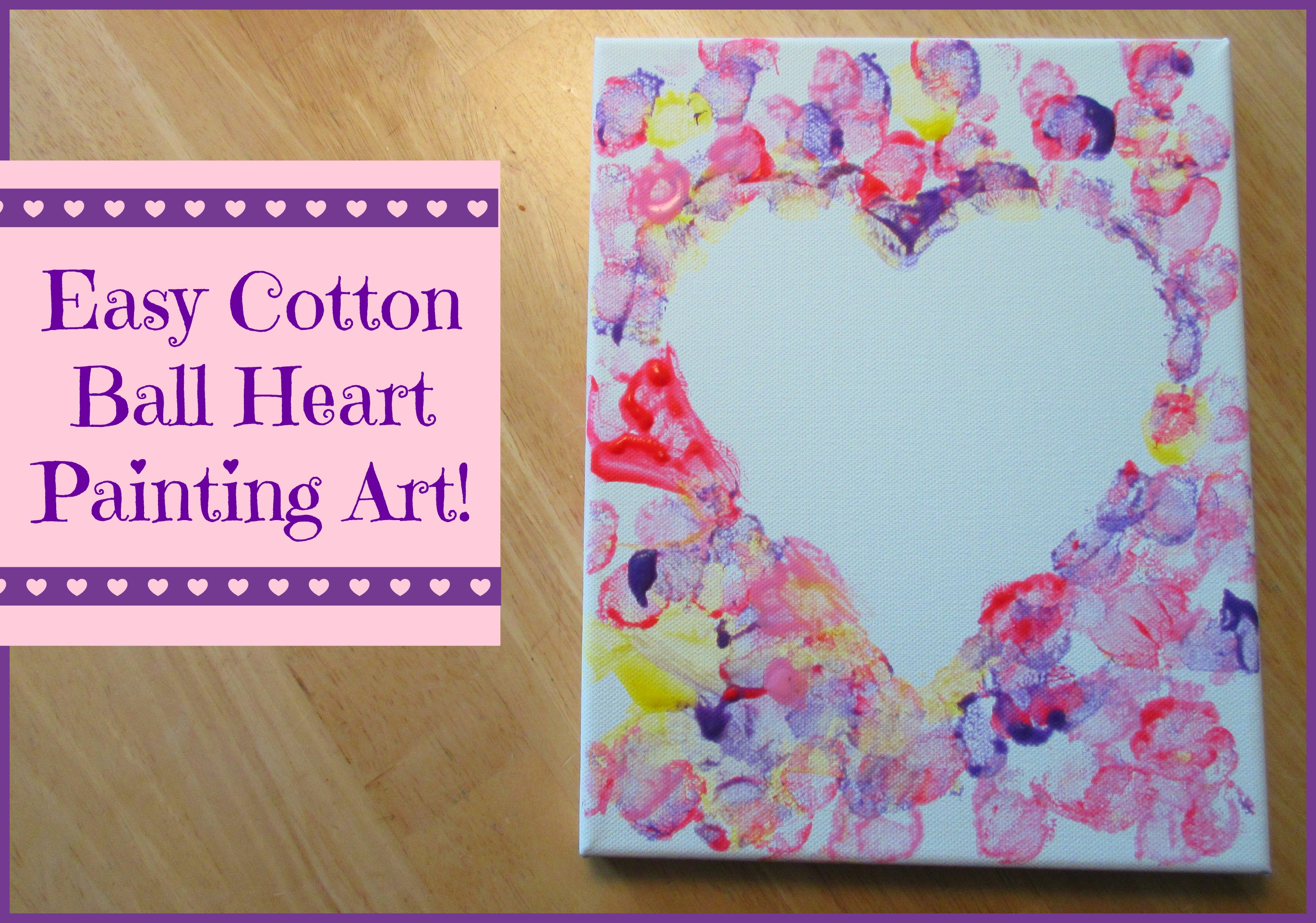 Cotton ball heart painting crafts for kids sunshine whispers - Painting ideas ...