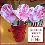 Handprint Bouquet Crafts for Kids
