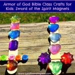Armor of God Bible Class Crafts for Kids: Sword of the Spirit Magnets