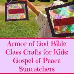 Armor of God Bible Class Crafts for Kids: Gospel of Peace Suncatchers