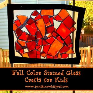 fall color stained glass crafts for kids