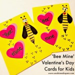 Adorable 'Bee Mine' Valentine's Day Cards for Kids