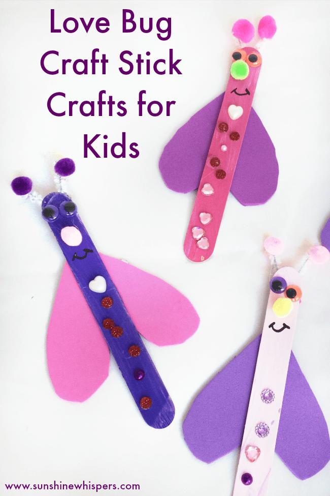 love bug craft stick crafts for kids