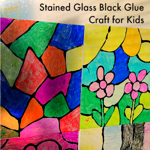 Make Stained Glass Windows With Black Glue and Sharpies!