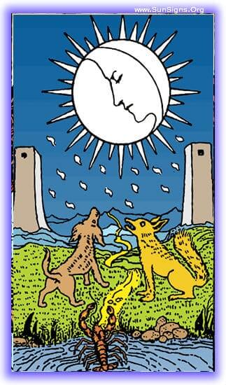 This tarot meditation on the upright moon card will focus on the strangeness of ambiguity, that half-space where nothing is quite real, and nothing is quite illusion.