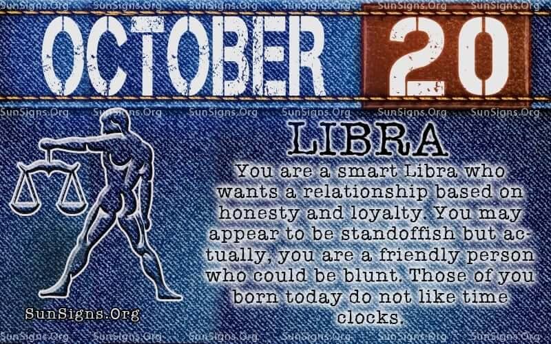 October 20 Zodiac Birthday Horoscope Personality | Sun Signs