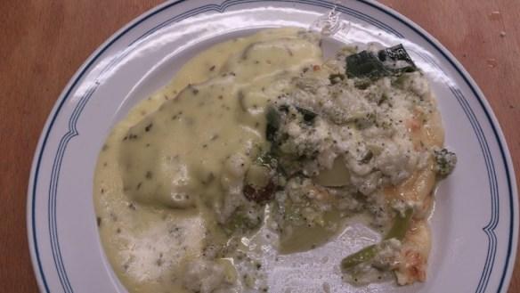 Grönsaksgratäng med blomkål och broccoli