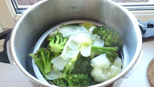 Efter endast två minuters kokning