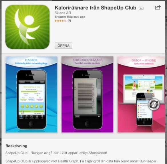 ShapeUp Club, matregistrering