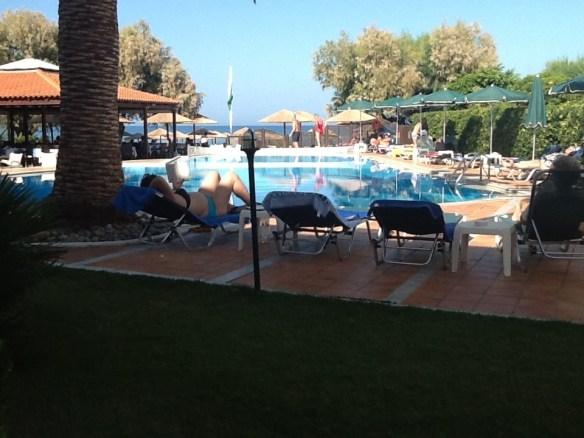 Utsikten från vårt hotellrum på Kreta