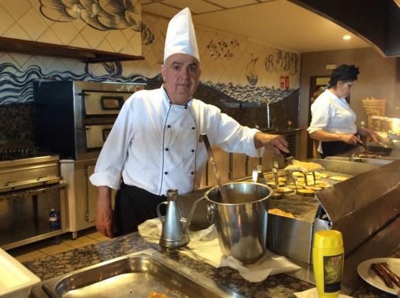 Vår omelettmästare på Gran Canaria.